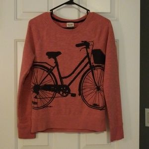 Women's sweatshirt with bicycle